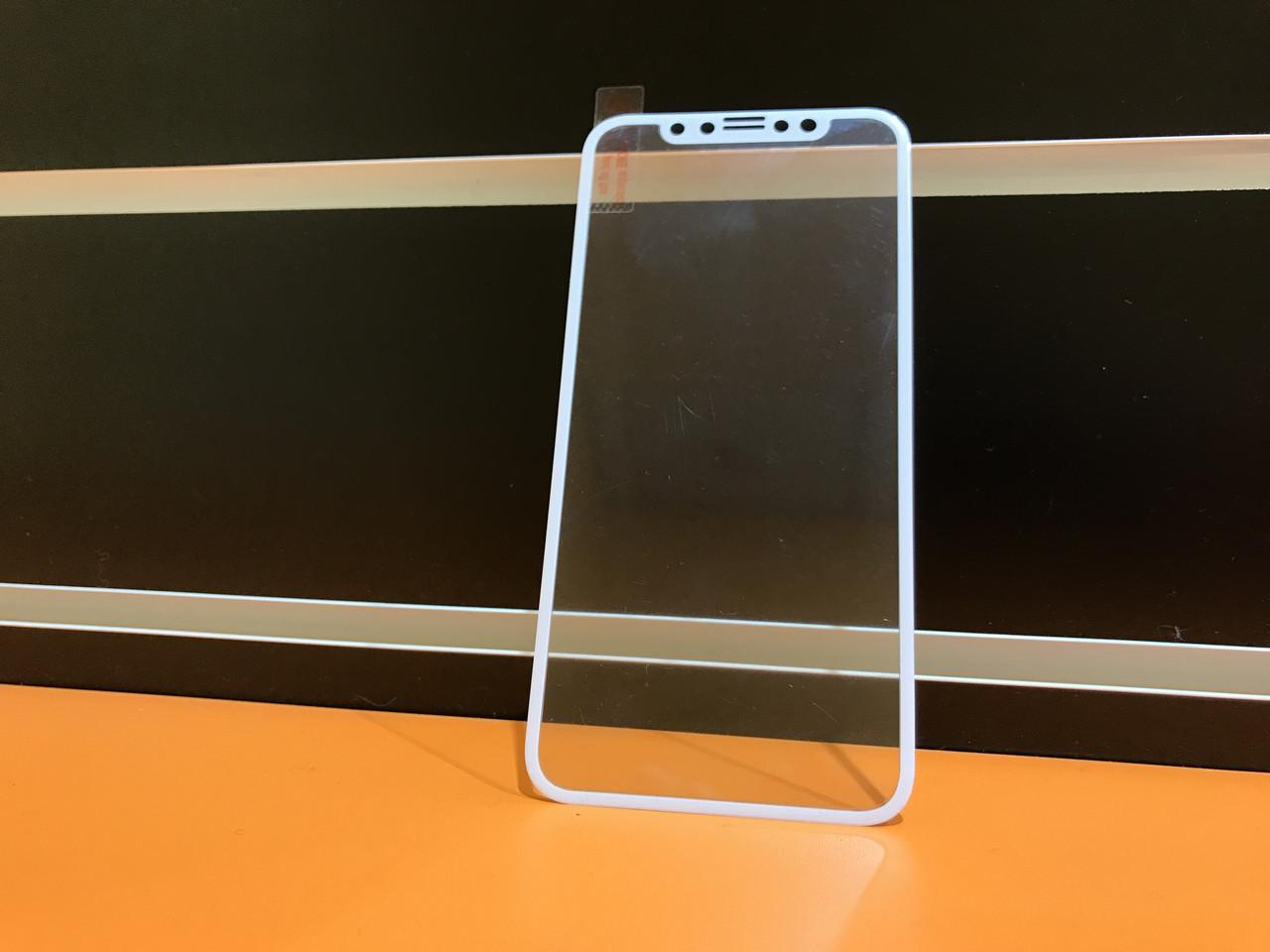 Защитное стекло 3D Carbon  для iPhone X White