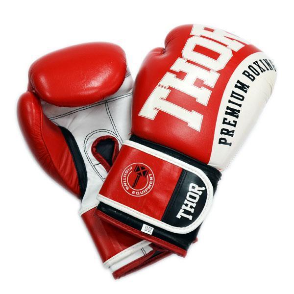 Боксерские перчатки THOR SHARK (PU) RED