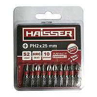 Бита Haisser PH2X25 мм, блистер (10 штук)