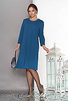 Летящее платье с отделкой термо-стразами и бусинами-заклепками   48-52р