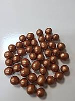 Посыпка круглая рисовая бронзовые 10 мм, 50г  Галетте - 06620