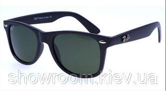 Женские солнцезащитные очки в стиле RAY BAN Wayfarer 2140 (black)