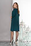 Модне плаття з обробкою термо-стразами і намистинами-заклепками 48-52р, фото 2