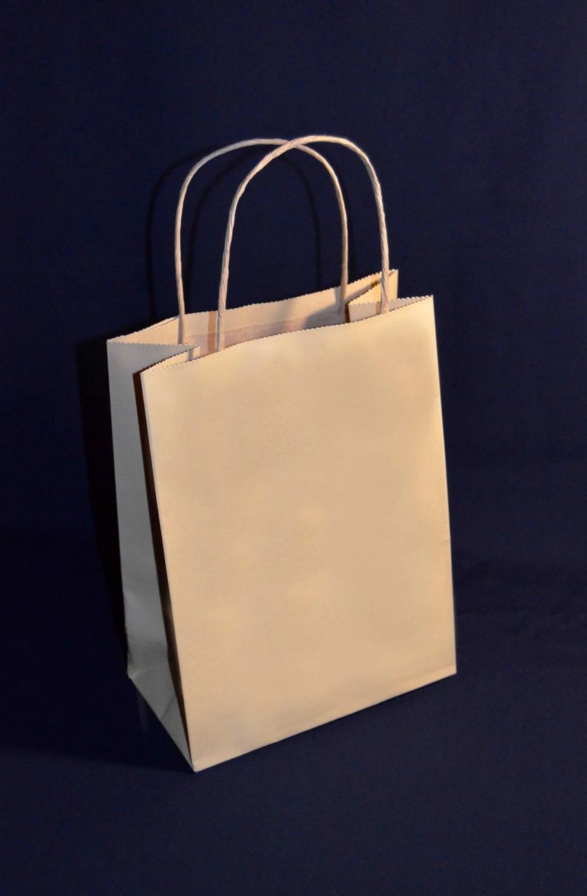 Пакет с кручеными ручками 230х170х90 (Бурый крафт)