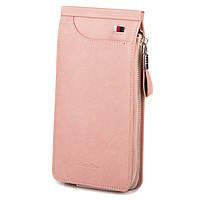 Женский кошелек-картхолдер Carrken розовый (C010-5)