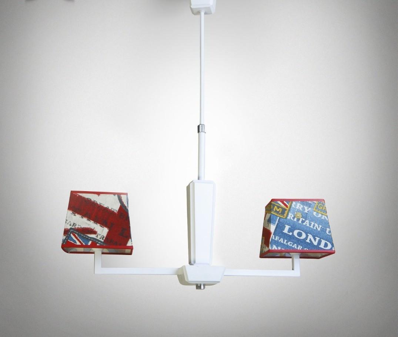 Люстра модерн на две лампы для молодежной комнаты, кафе 14105-1