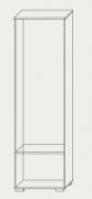 Шкаф Вива 600 2060х600х370мм ясень шимо темный + светлый Сокме  , фото 3