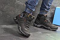 Мужские ботинки Adidas Terrex 465 зимние высокие теплые стильные непромокающие (черные), ТОП-реплика