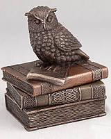 Шкатулка  Veronese Сова на книге 12 см  (75509A4)