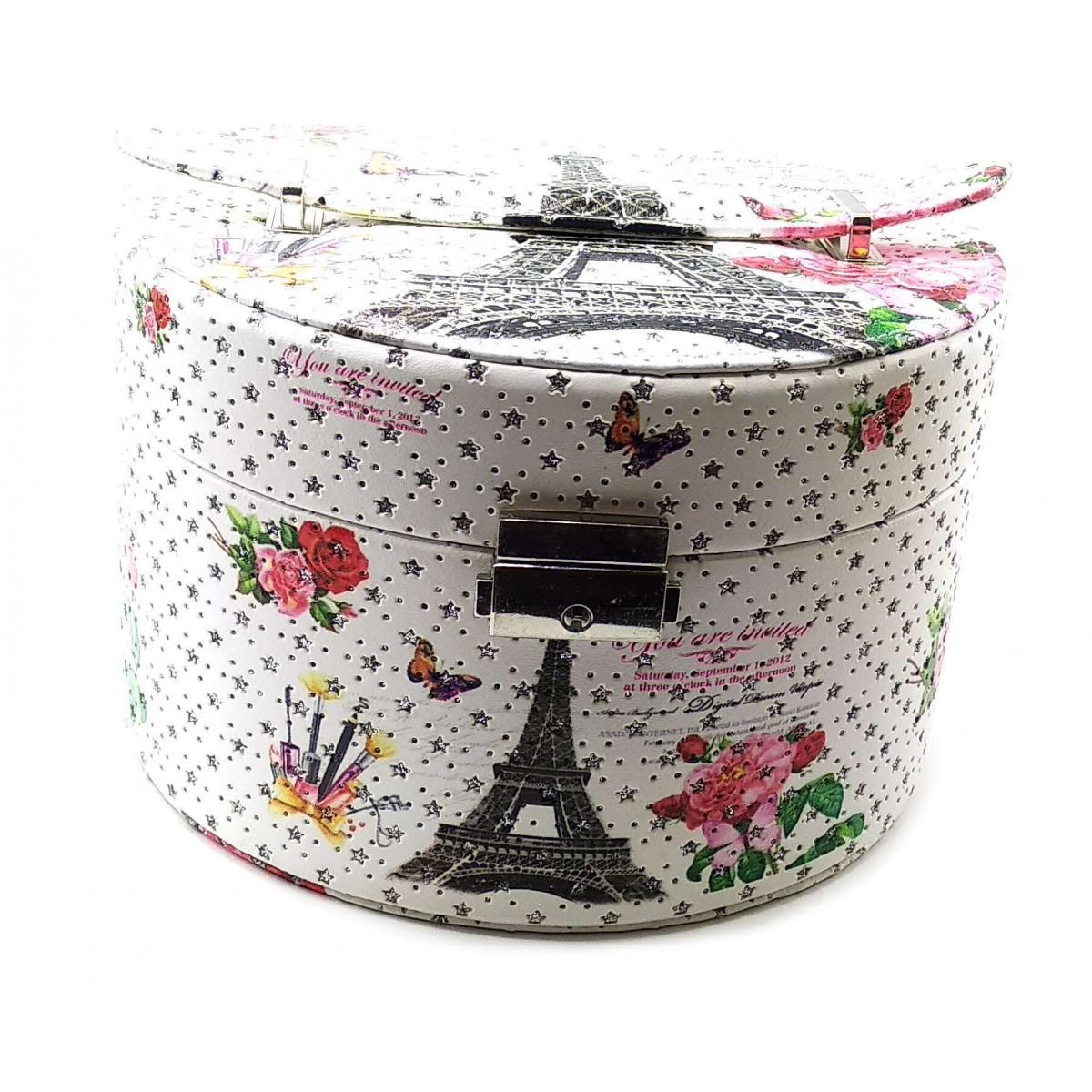 Шкатулка для бижутерии с зеркалом Париж