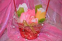 """Набор мыла """"корзина тюльпанов"""" на 8 Марта (3)"""