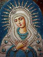 Алмазная вышивка Икона Богородица 34 х 24 см (арт. PR553) частичная выкладка