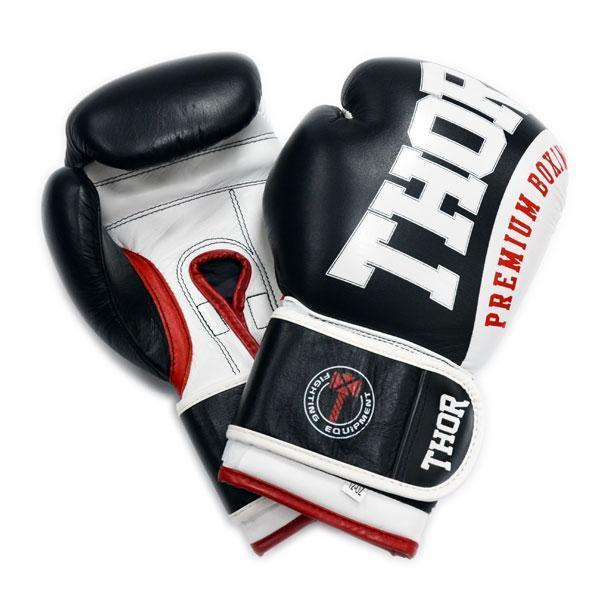 Боксерские перчатки THOR SHARK (Leather) BLK