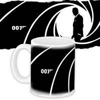 Кружка с принтом Агент 007 330 мл (KR_MAN017)