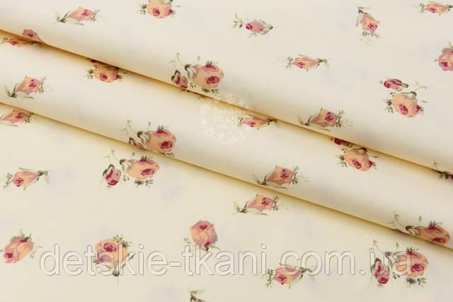 текстиль с бутонами цветков