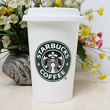 Термокружка керамічна Склянку білий StarBucks HY101