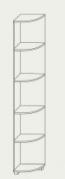 Стелаж Вива угловой 2060х320х370мм ясень шимо темный + светлый Сокме  , фото 2