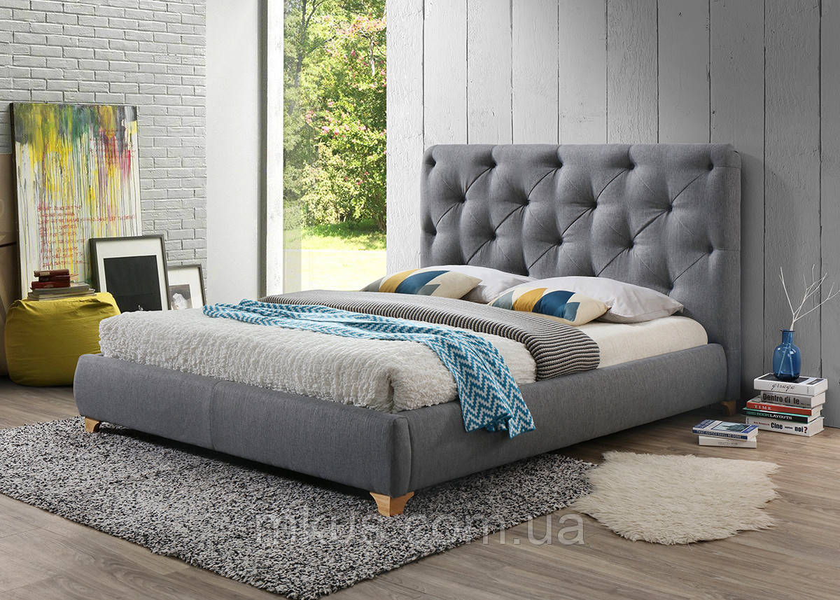Кровать Моника грей софт, 1600х2000