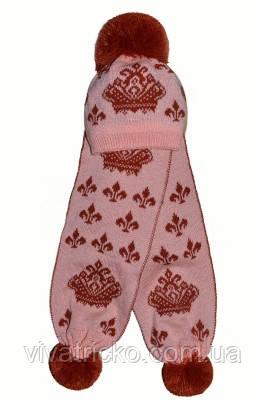 Компект шапка + шарф детский 8-12 лет