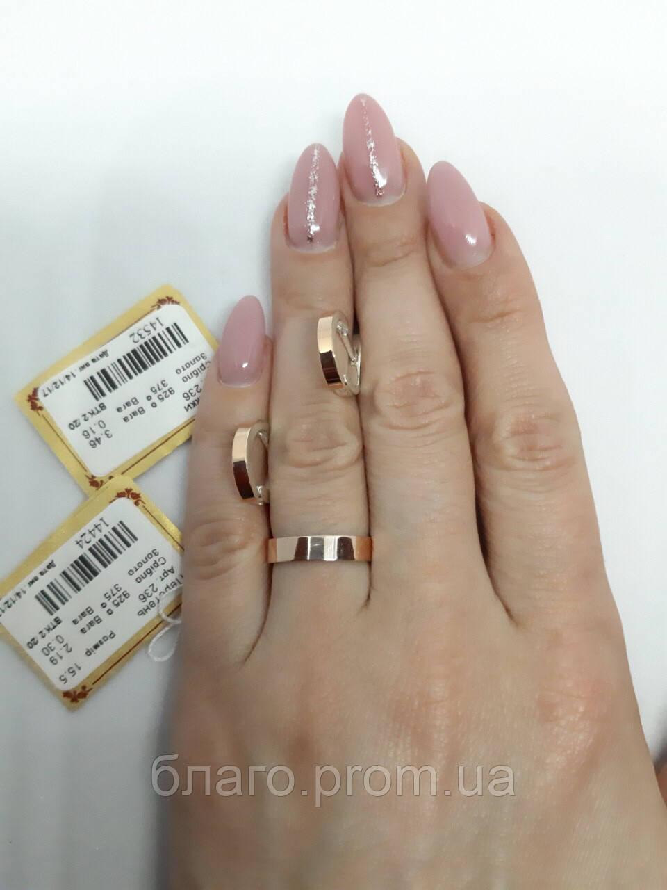 Серебряные комплекты с золотыми пластинами