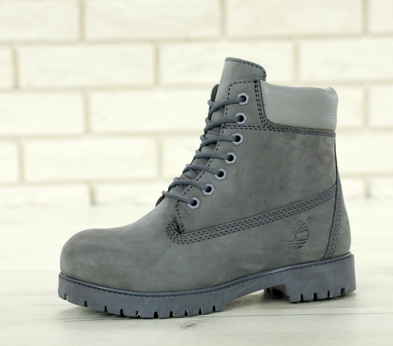 6b41a510fcd7 Зимние ботинки Timberland grey, женские ботинки с натуральным мехом