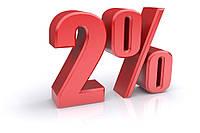 Возвращаем деньги за покупку 2%