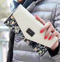 Красивый женский кошелёк с ярким принтом. Алый, черный, фиолетовый, голубой, зеленый., фото 1