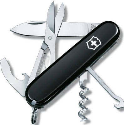 Карманный складной нож Victorinox Compact 13405.3 черный