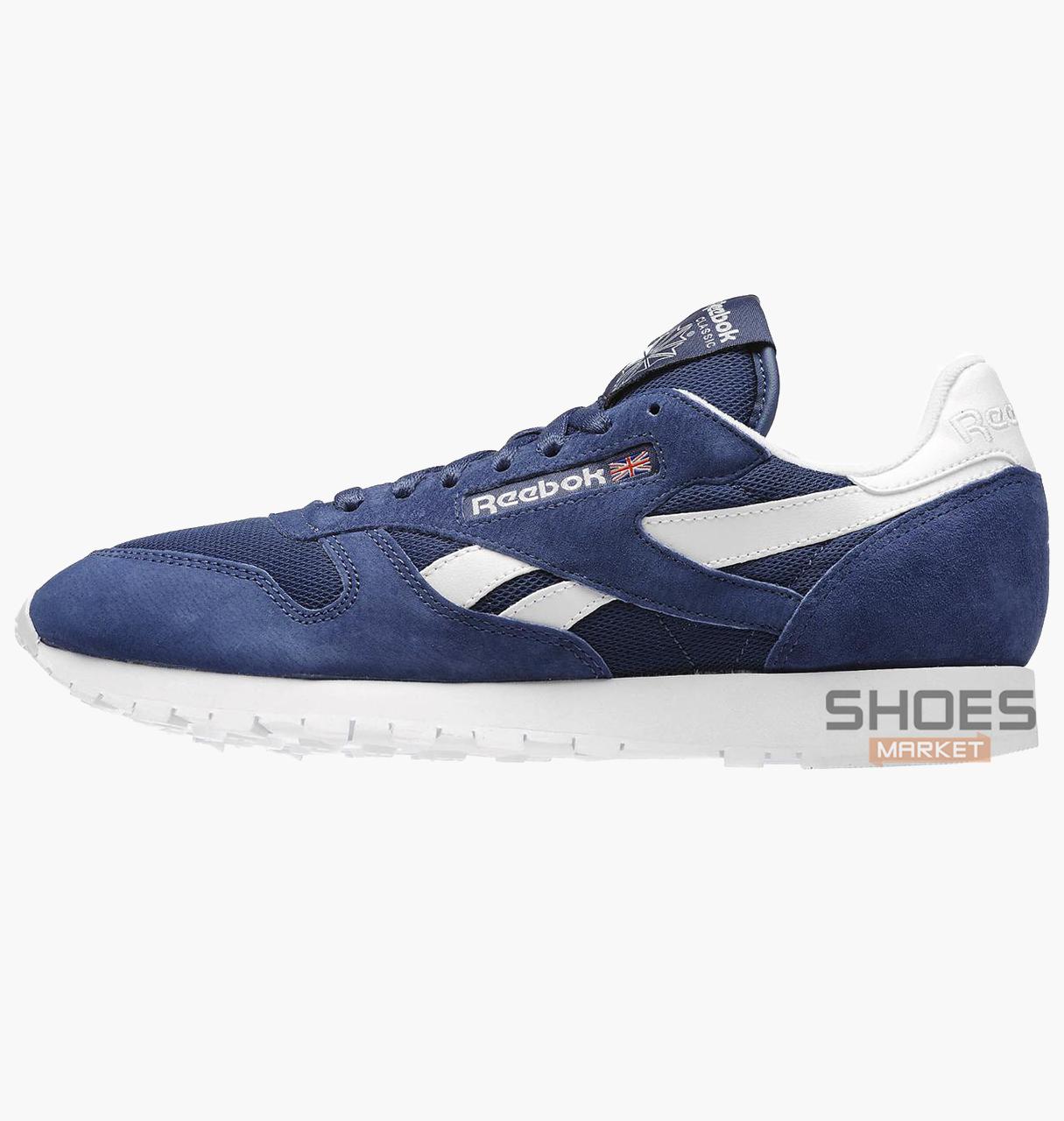 Мужские кроссовки  Reebok CL Leather IS  Bleu V69421, оригинал