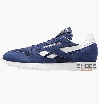 Мужские кроссовки  Reebok CL Leather IS  Bleu V69421, оригинал, фото 2