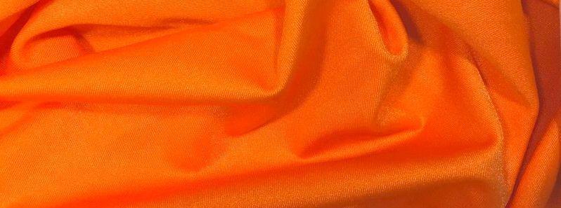 Трикотаж Бифлекс на купальники, Блестящий, оранжевый
