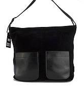 Стильная прочная женская сумка с лицевой частью из замши Solana art. 128 Турция