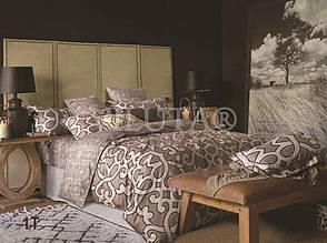 Натуральный комлект постельного белья сатин люкс Tiare евро T