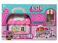 Великий Розкладний ляльковий Лол будинок для петов з аксесуарами LOL Сюрприз