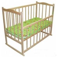 Детская ЭКО кроватка - колесики и люлька.Без лака.