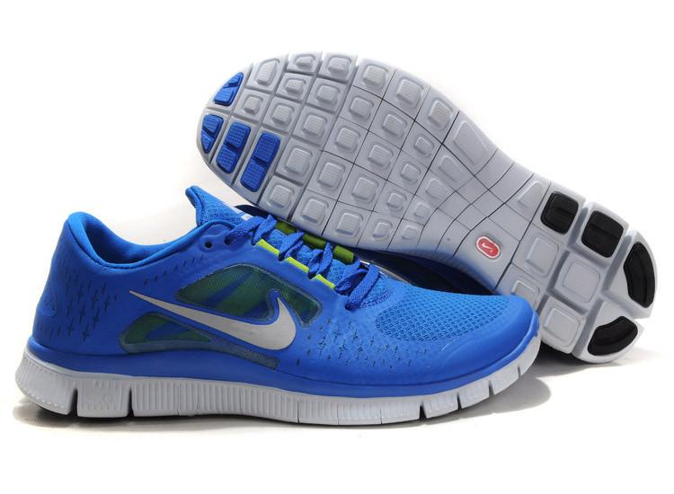 Кроссовки мужские Nike Free Run 5.0 синие с белым