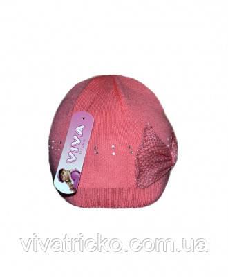 Детская вязаная шапка 3-10 лет м 9106, разные цвета