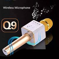 Мікрофон Q9 (2 диамика + USB Bluetooth) у коробці Золото