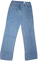 Джинсы голубые прямые для девочки, рост 128 см, ТМ Бемби