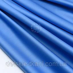Сатин цвет тёмно-голубой, ширина 240 см (№1751с)