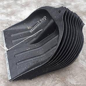 Лопата снеговая пластиковая 40х41 см / ИЗ ВТОР. СЫРЬЯ / Снегоуборочная / Лопата для снігу з держаком, фото 2