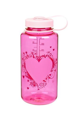 Пляшка для води Nalgene Wide Mounth Heart Малинова 1 л.