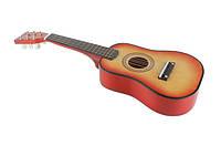Детская деревянная гитара M 1369 (Оранжевый) (58 см) 6 струн, медиатор