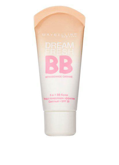 Тональный крем Maybelline Dream Fresh BB (ПАЛИТРАМИ) (A №1,3,5) (B №2,4,6)