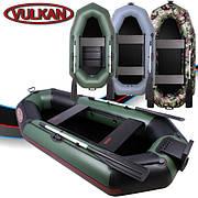 Двухместная надувная ПВХ лодка Vulkan V249 LS(ps)
