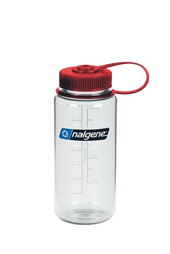 Пляшка для води Nalgene Wide Mounth Прозоро-Червона 500 мл.