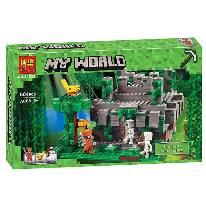 """Конструктор """"Храм в джунглях"""" Minecraft Bela 10623 604 деталей"""