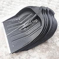 Лопата снеговая пластиковая 49х49 см / ИЗ ВТОР. СЫРЬЯ / Снегоуборочная / Лопата для снігу з держаком
