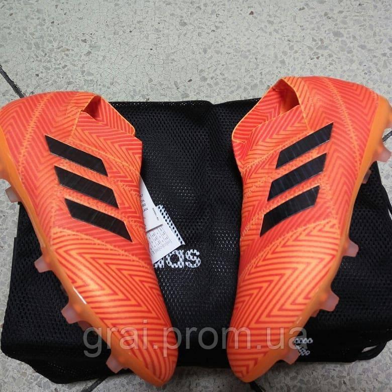 45530089 Детские бутсы adidas Nemeziz 18+ FG/AG Orange - Интернет магазин Грай в  Киеве