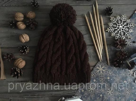 мужская вязаная шапка шерстяная шапка зимняя шапка шапка с